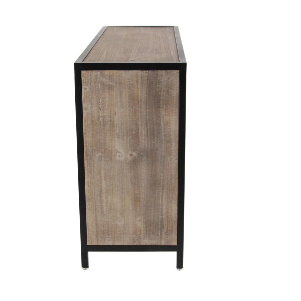 Wood And Metal Cabinet