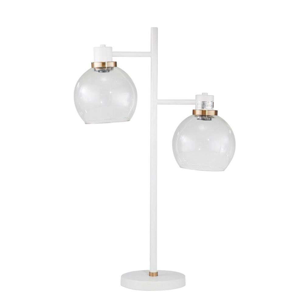 Belfast Two-Light Table Lamp (White)