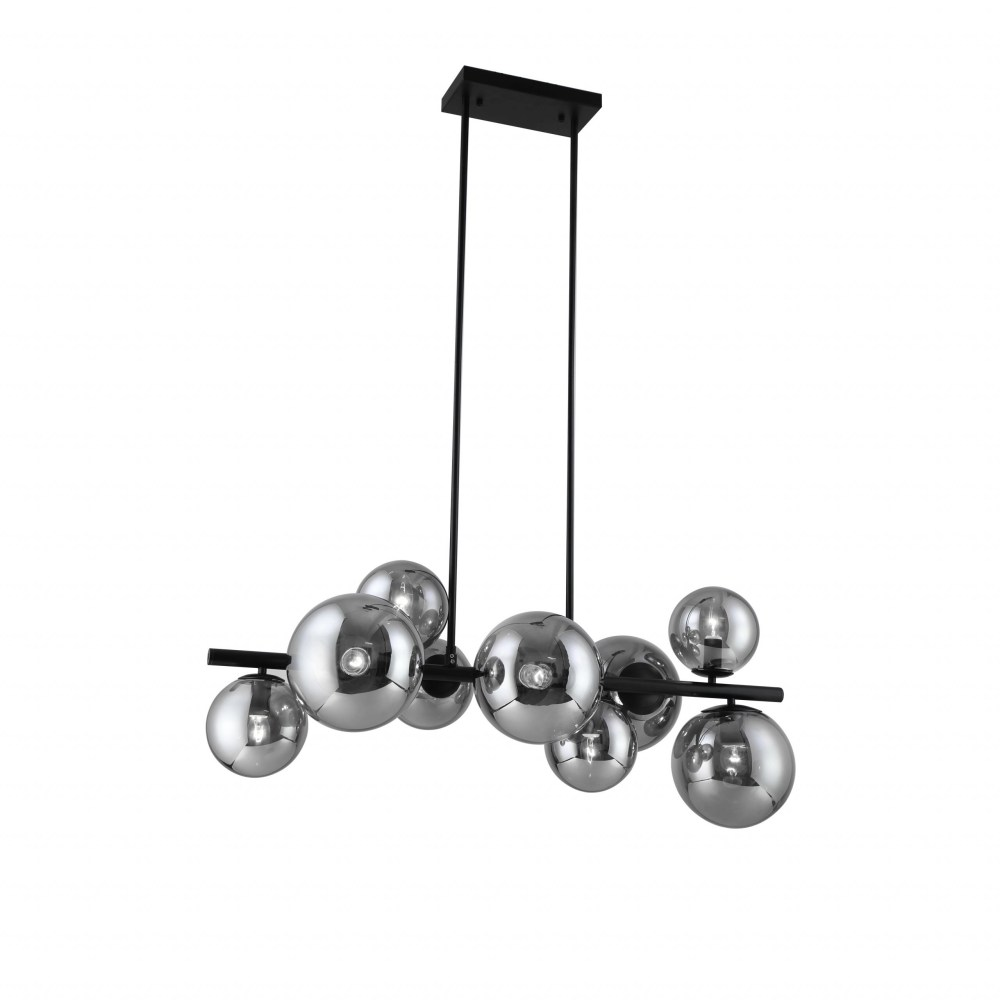 Colma Pendant Lamp 9-Light With Smoke