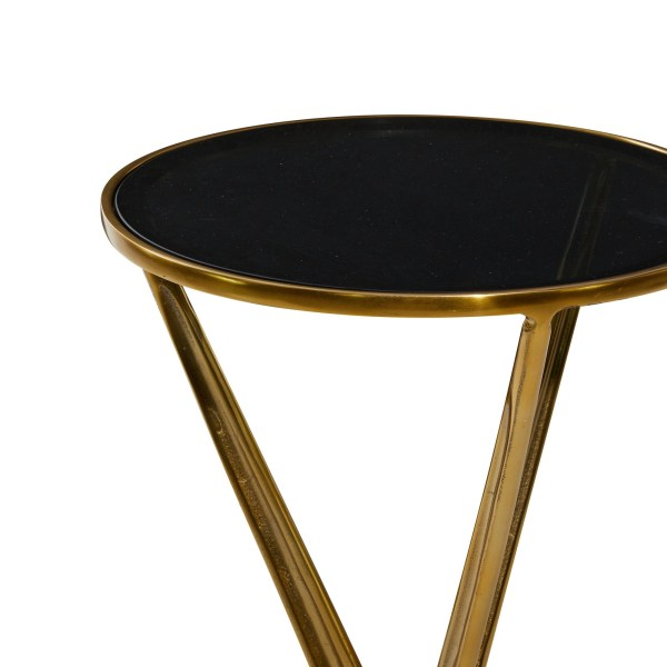 Black and Gold End Table