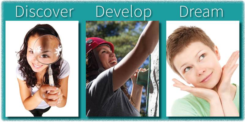 Discover, Develop, Dream Slider