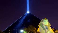 Luxor Hotel's Beam of Light, strongest in the world.
