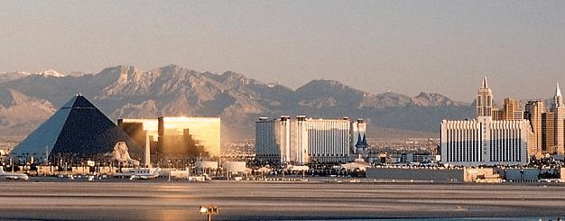 Las Vegas McCarren International Airport and Luxor Hotel