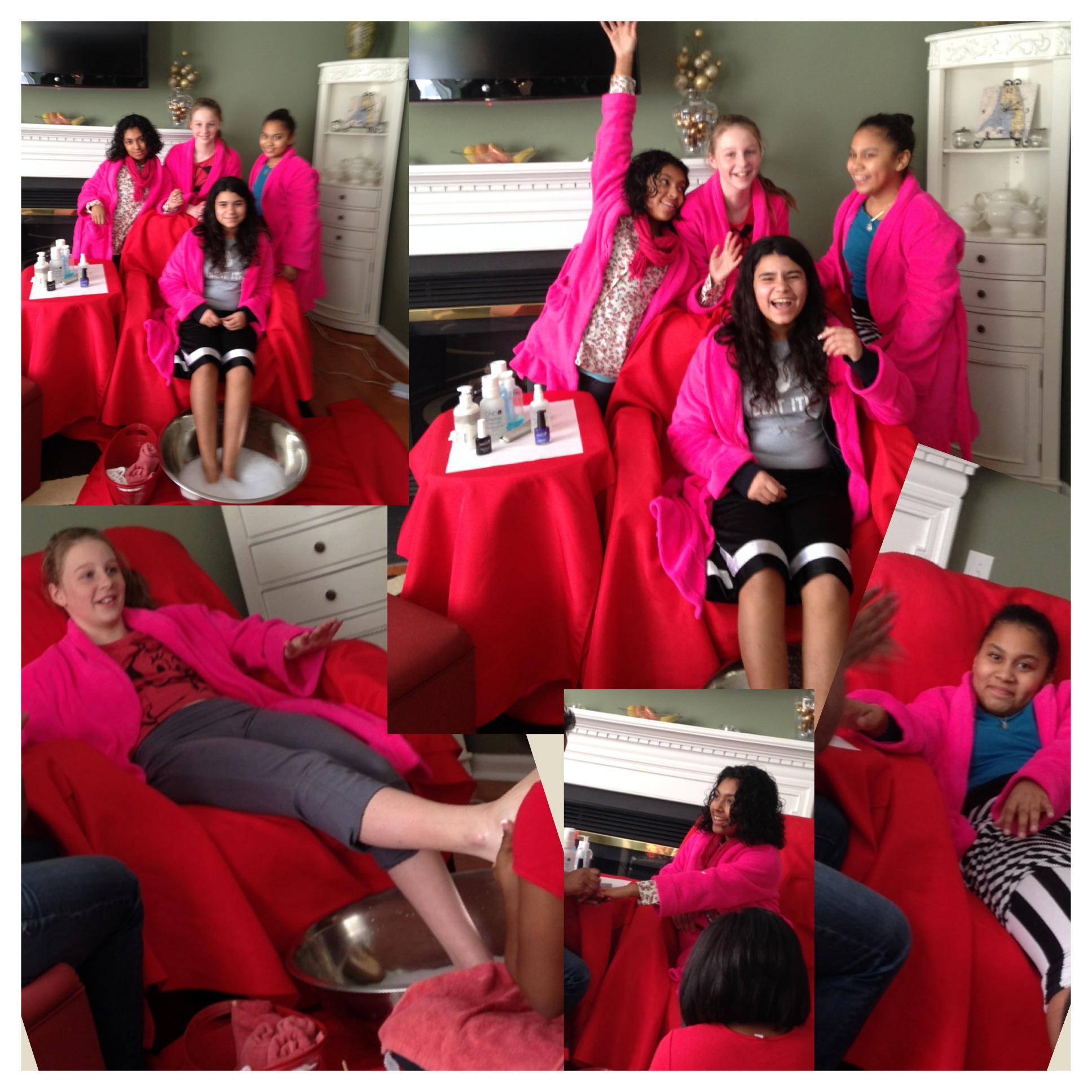 Kids Pedicure Chair Girls Nite In Pamper Perfect Mobile Spa