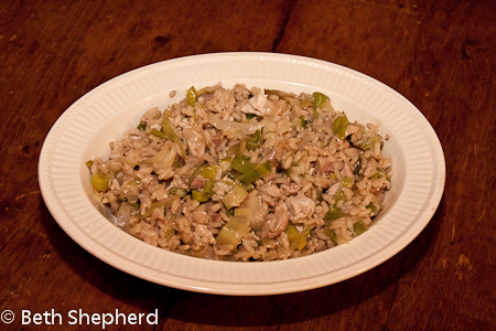 Turkey Leek Risotto