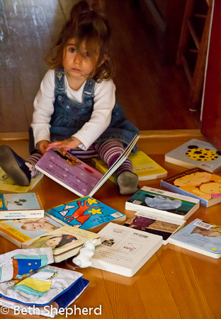 A baby and her books 7