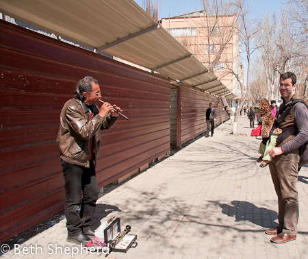 Listening to the duduk in Yerevan
