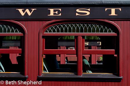 Red train car at Strasburg Rail Road