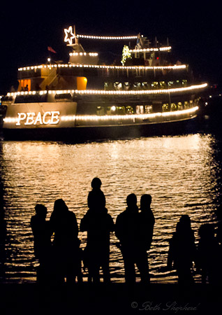 Seattle Christmas ship PEACE