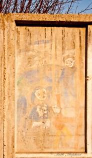 Outside wall at orphanage