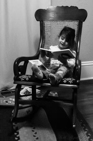 Reading in a rocker