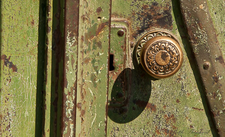 Gold doorknob