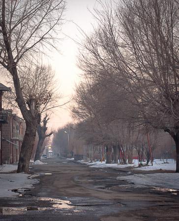 Gyumri foggy morning