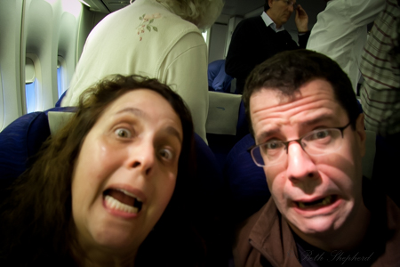 Scared on plane