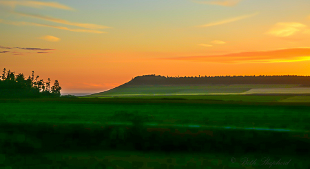 Ebey sunset on Whidbey