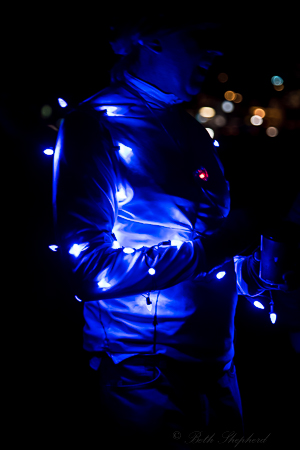 Blue light man