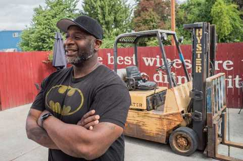 HILLSBORO TRIBUNE PHOTO: CHASE ALLGOOD - Bertony Faustin, owner of Abbey Creek Vineyard in North Plains in Oregon's only black winemaker. He is working on a documentary chronicling the stories of minorities in Oregons wine industry.