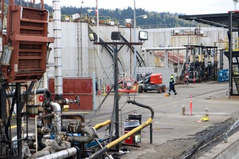 PMG PHOTO: ZANE SPARLING - Zenith Energy's facility in Northwest Portland on Front Avenue is shown here.