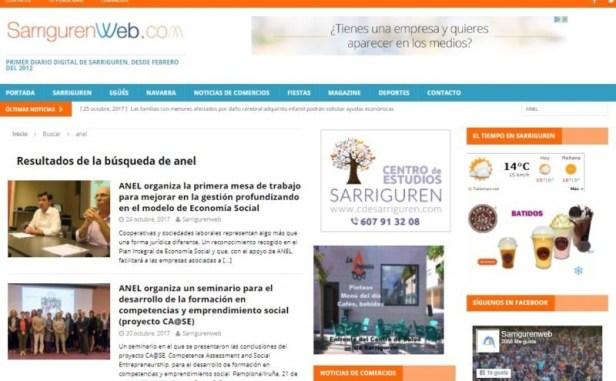 Una administración de marketing dactilar de Navarra revoluciona su web