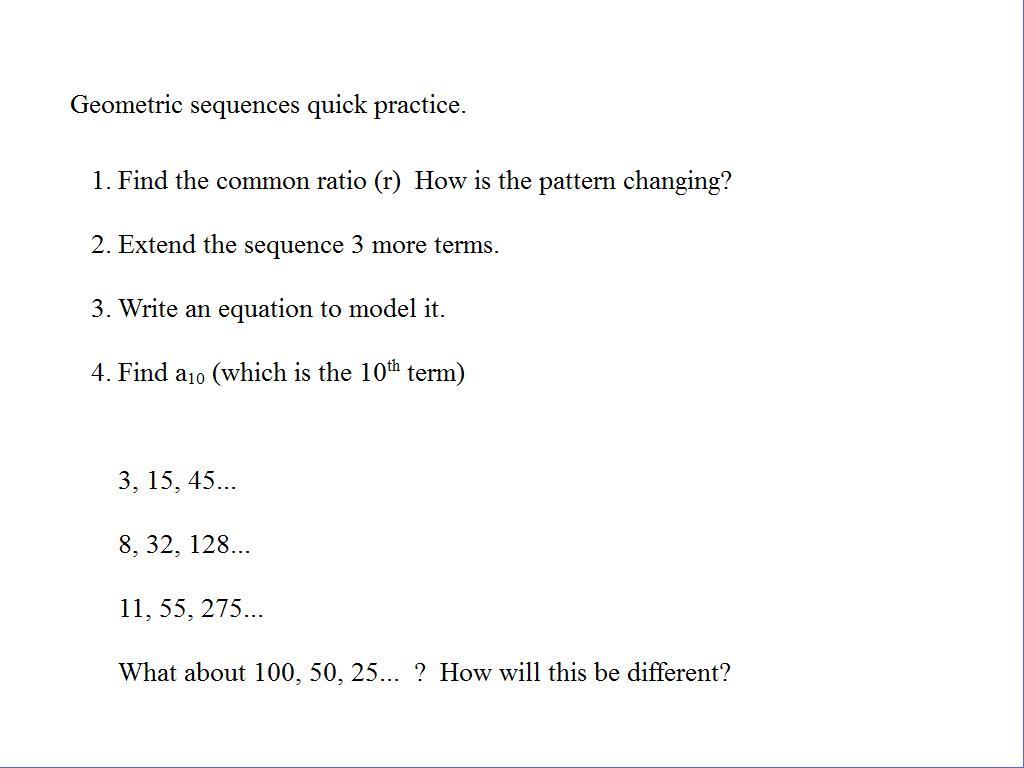 Arithmetic And Geometric Progression