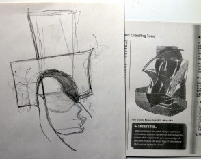 drawing and photo