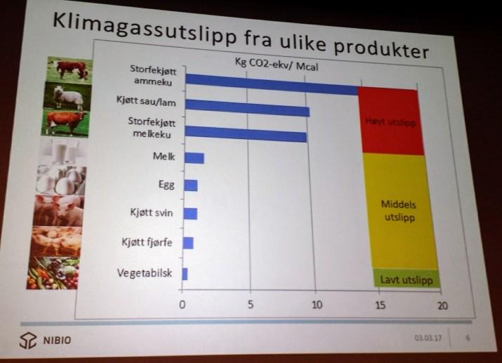 Presentasjon om bærekraftig kosthold ved Arne Grønlund