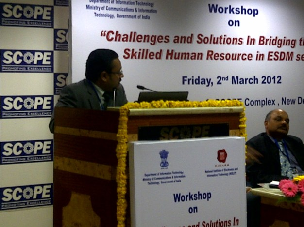 Speaking at Workshop organised by Ministry of Communication & Information Technology