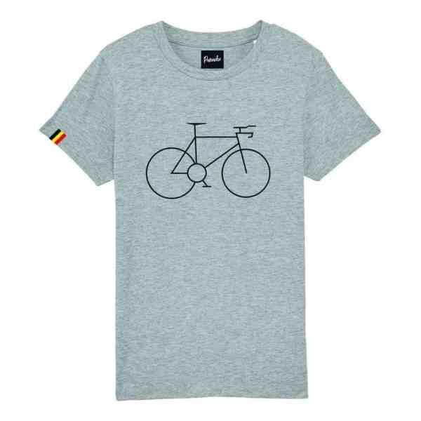 Kids t shirt geborduurde fiets
