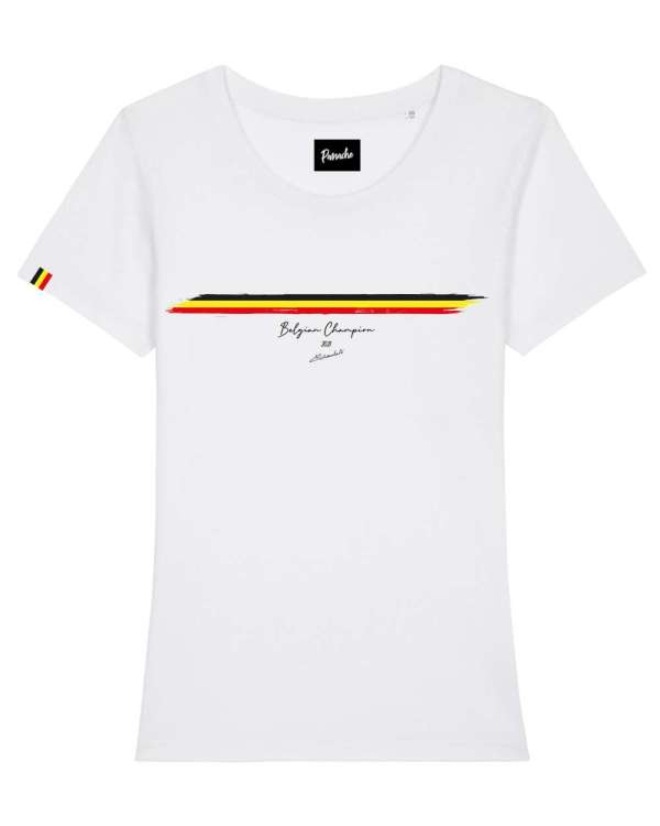 WVA BK t shirt dames wit tricolore packshot