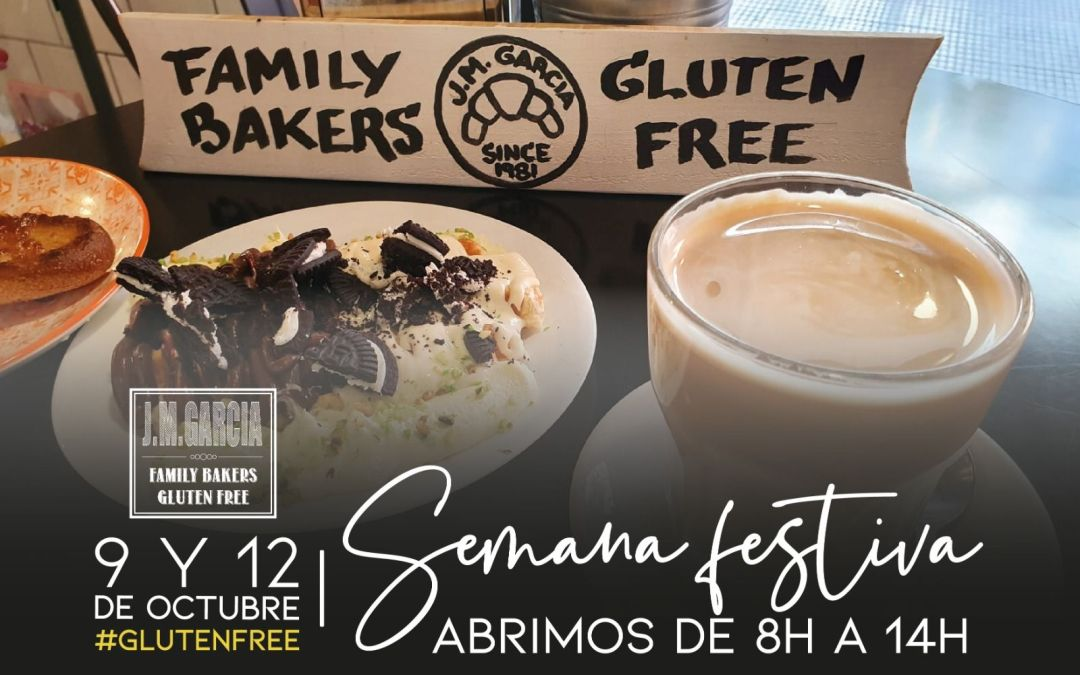 Horario Fiestas 9 y 12 de Octubre Sin Gluten