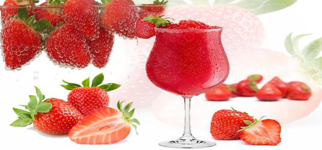فوائد عصير الفراولة