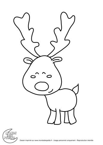 coloriage-noel-renne