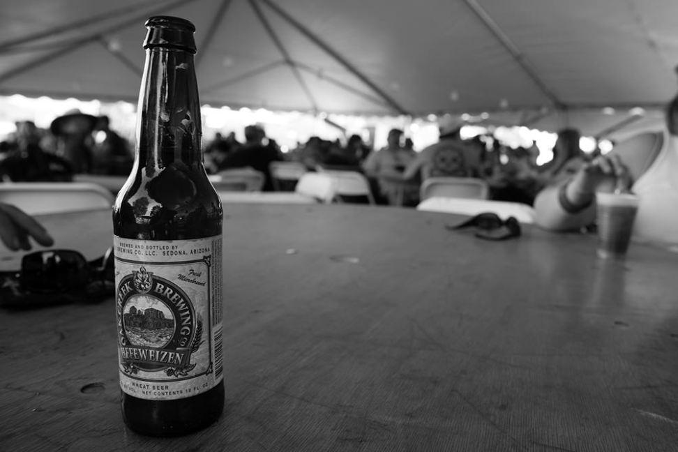 Sampling beers. Very important work.