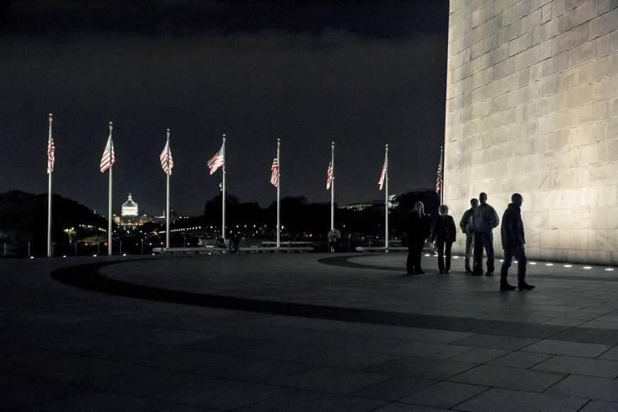 Washington Monument at night