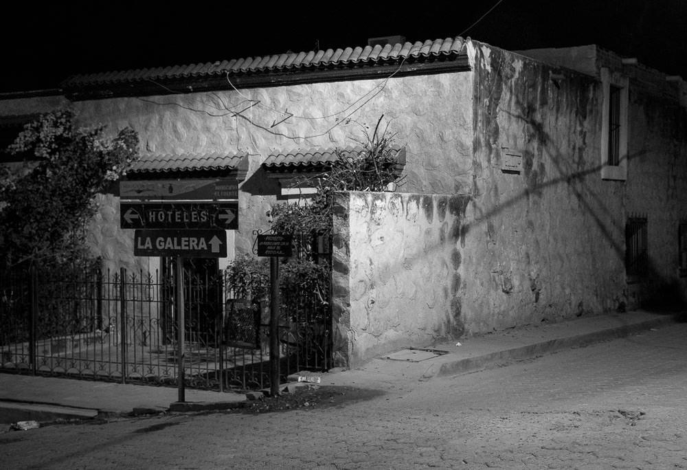 El Fuerte, Sinaloa, after dark.