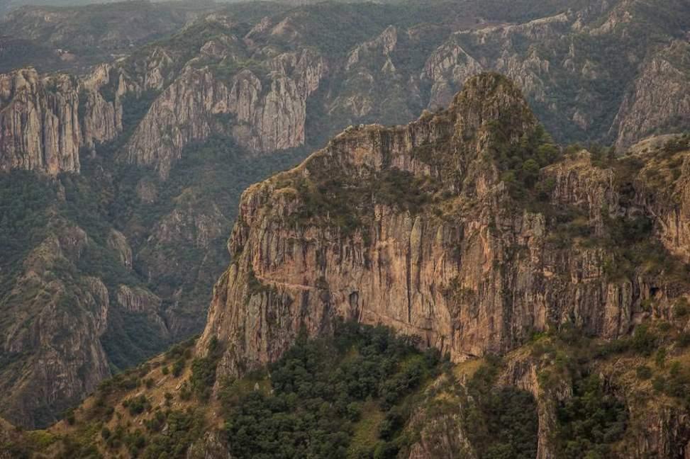 Dramatic cliffs.