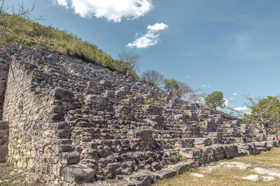 Kinich Kakmó, a huge Mayan pyramid in the small town of Izamal.
