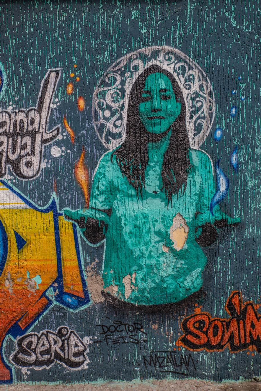 Street art in Mazatlán.
