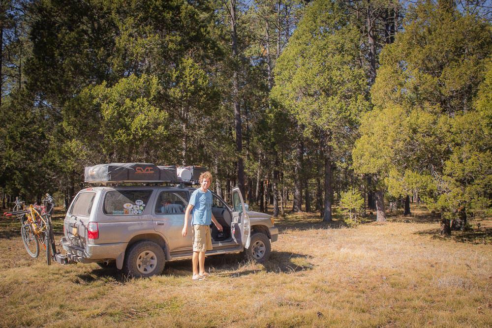 Found a camp spot. Ok, it wasn't hard, it is a huge area.