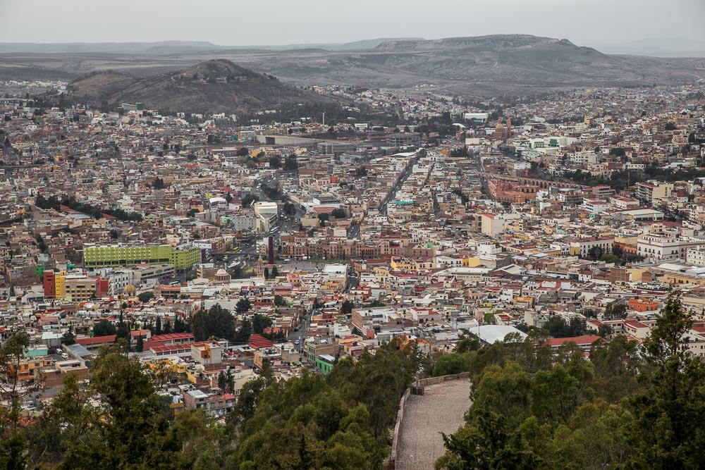 View of Zacatecas from above.