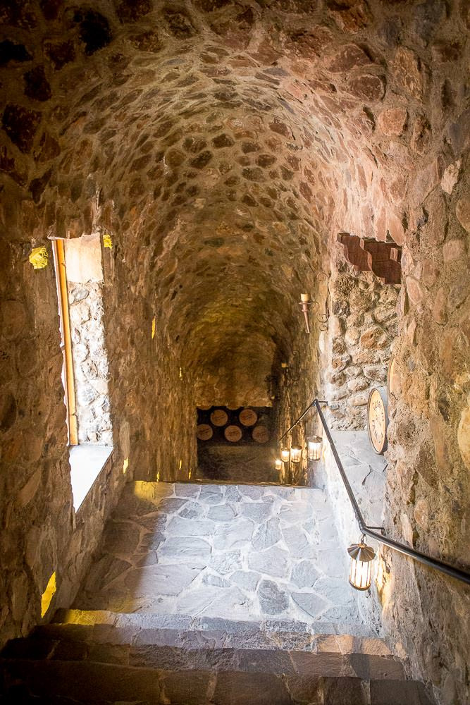 Down to the cellar.