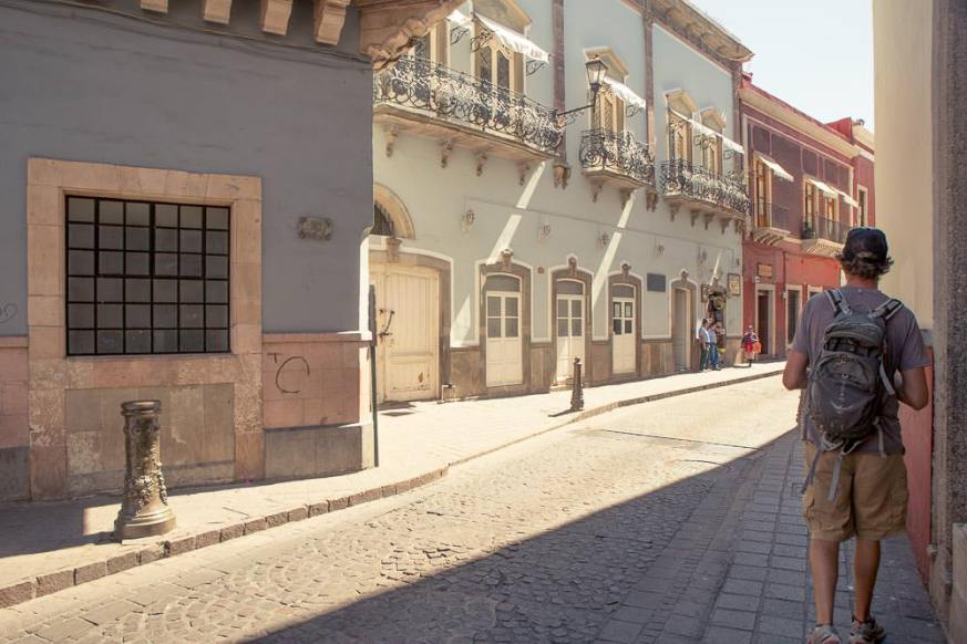Exploring the streets of Guanajuato.