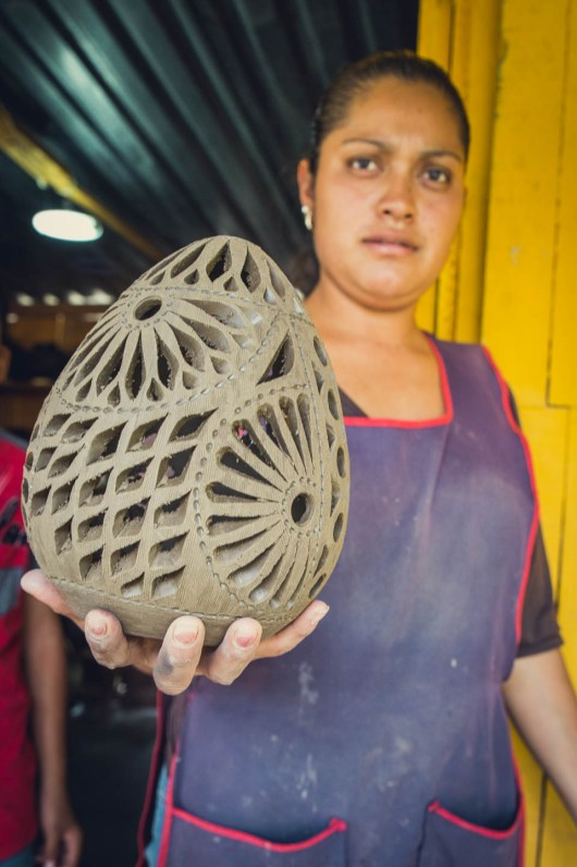 The whole process of course requires more work than what we saw. The egg shape needs to be made, dried, carved, dried fired and buffed to form the graphite-like sheen that you see on the black pottery in the region.