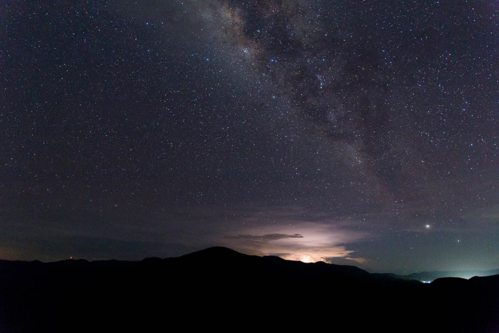 Night skies over Hierve el Agua