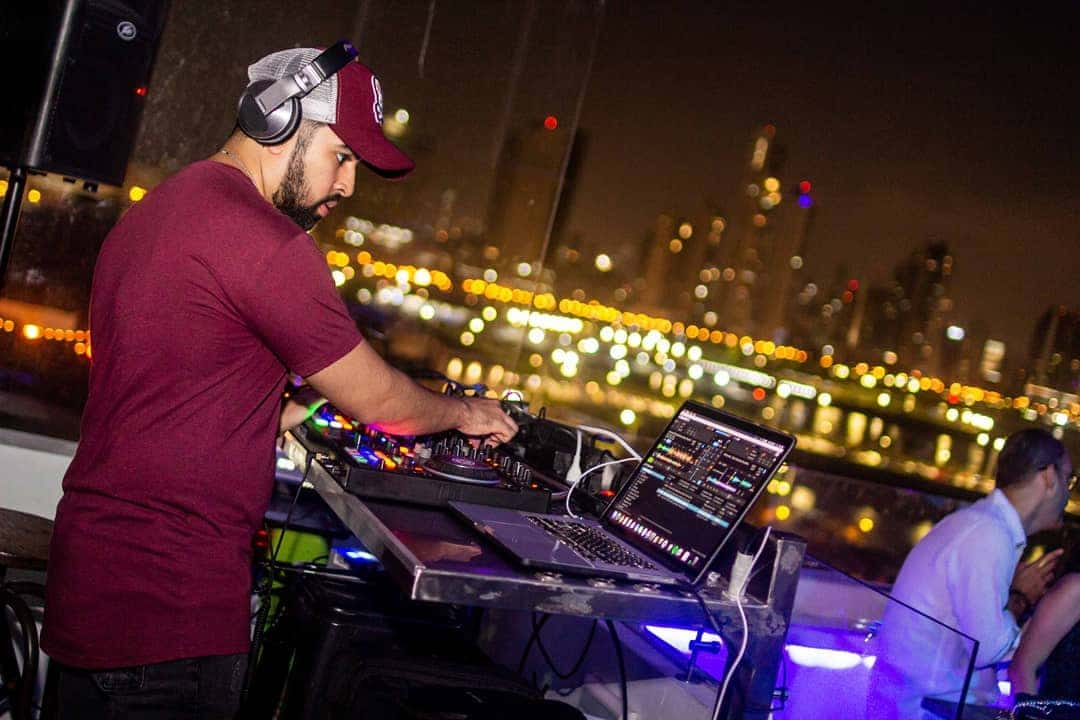 DJ playing at StorX Sky Lounge in Casa Antigua Hotel