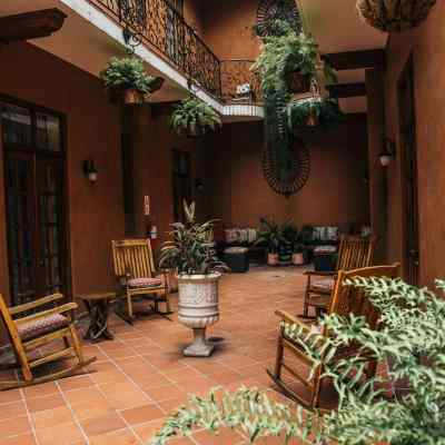 La Isabela Suites has a Gorgeous Spanish Style Courtyard with Plants