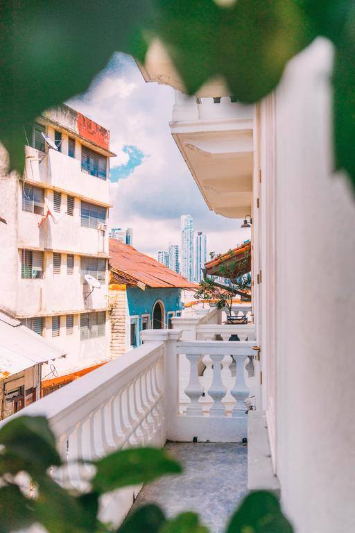 view from the balcony of Las Clementinas Hotel in casco viejo