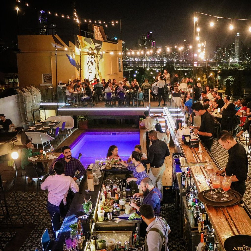 Lazotea Restaurant and Rooftop gets quite full especially on weekend nights