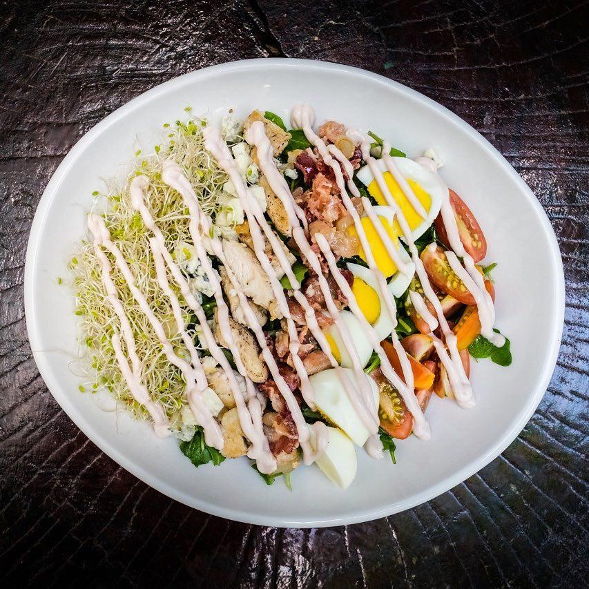 Cobb salad at Mahalo Casco Viejo