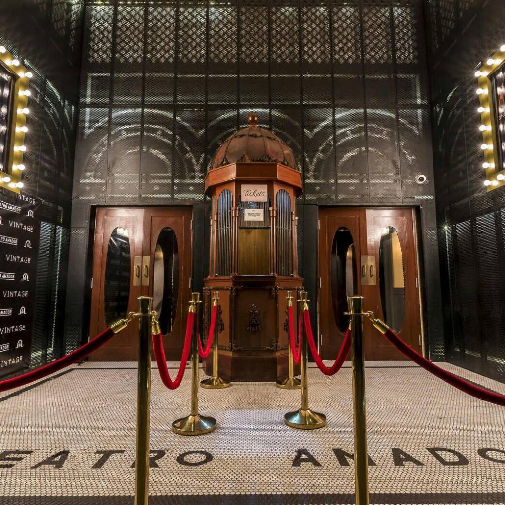 Ticket booth entrance of Teatro Amador